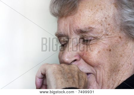 Elderly Lady Laughing
