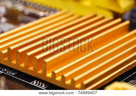 Yellow Chipset Heatsink