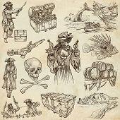stock photo of buccaneer  - Pirates and Buccaneers theme  - JPG
