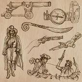 foto of buccaneer  - Pirates and Buccaneers theme  - JPG
