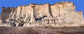 picture of hoodoo  - Wahweap Hoodoos with Clear Sky in the Background - JPG