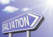 picture of salvation  - salvation by trust in God and Jesus - JPG