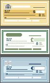 picture of blank check  - Set Bank Check Vector illustration in flat style eps 10 - JPG