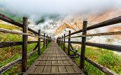 foto of hell  - Jigokudani hell valley walking trail in Noboribetsu Hokkaido Japan - JPG