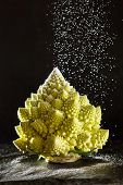 stock photo of romanesco  - Christmas tree from romanesco broccoli - JPG