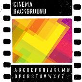 Photo of grunge colorful cinema design template. Vector.
