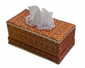 pic of tissue box  - Tissue paper box isolated on white background with clipping path - JPG