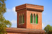 Brick Tower With Trifora Windows