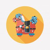 pic of chinese new year horse  - Chinese New Year Flat Icon With Long Shadow - JPG