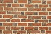pic of mortar-joint  - Red Brick Wall or stone texture background - JPG