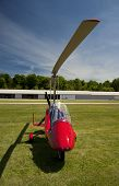 picture of gyrocopter  - Red open - JPG