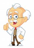 pic of physicist  - Clipart Picture of a Professor Cartoon Character Giving Thumbs Up - JPG