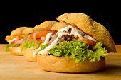 stock photo of veggie burger  - Appetizing veggie - JPG
