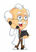 picture of physicist  - Vector Picture of a Professor Cartoon Character Talking on the Phone - JPG