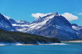 stock photo of landforms  - Glacier National Park - JPG