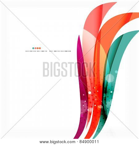 Purple and blue line design message board concept. Abstract background