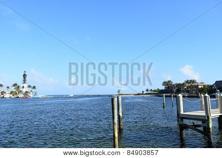 Fishing pier with Lighthouse