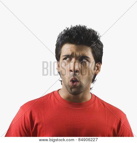 Man looking surprise