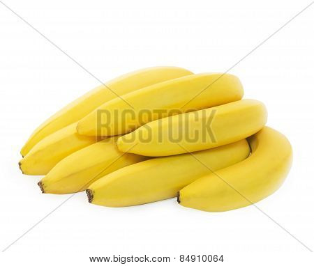 Bunch of fresh spotless yellow bananas