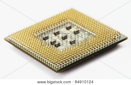 Close-up of a chip
