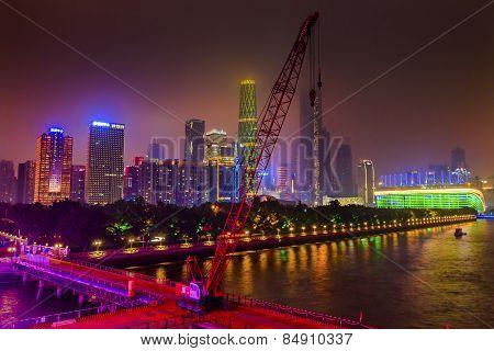 Zhujiaang New Town Pearl River Guangzhou Guangdong Province China