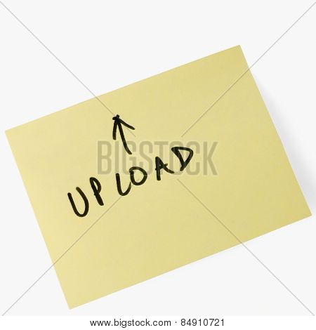 Up load text on adhesive note