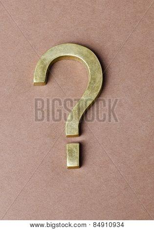 Close-up of a question mark symbol