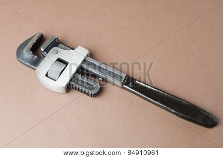 Close-up of an adjustable wrench