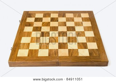 Close-up of a wooden chess box
