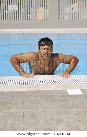 Young Athlete At Swimming Pool