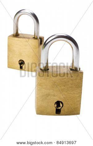 Close-up of two padlocks