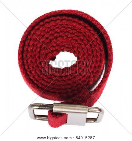 Top view of a woven cotton belt