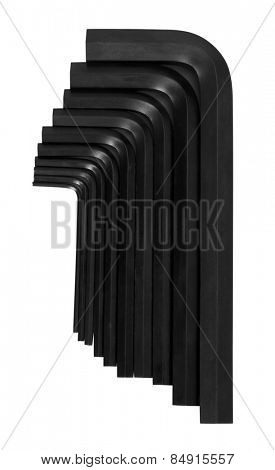 Collection of hex keys in different size