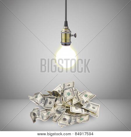 Light Bulb Over Money