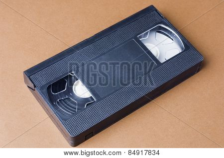 Close-up of a video cassette