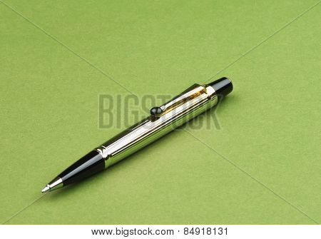 Close-up of a ballpoint pen