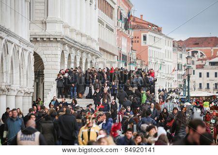 People At Riva Degli Schiavoni