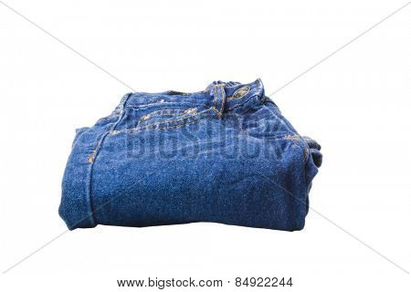 Close-up of a folded jeans