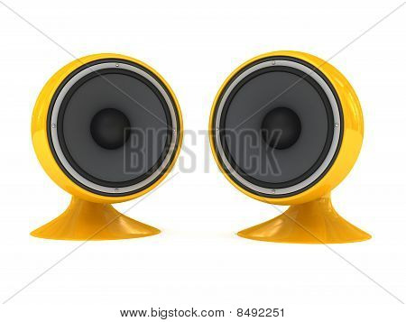 Speaker Over White Background