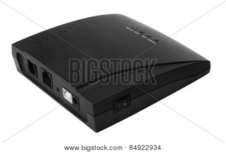 Close-up of a modem