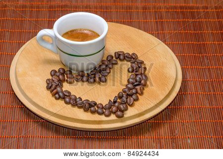 Coffee With Seeds In Cup