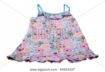Close-up of a baby's frock