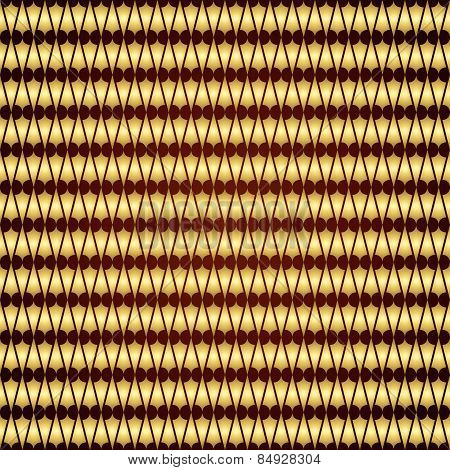 Gold Abstract Double Plumb Seamless Pattern