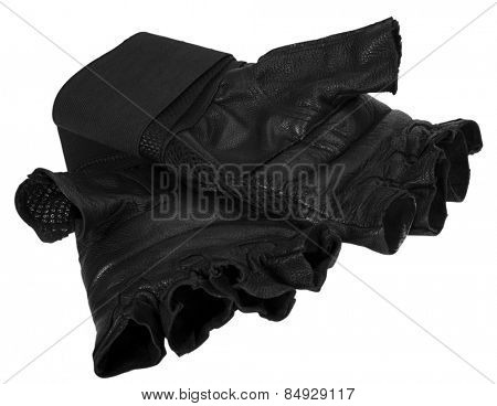 Close-up of cycling gloves