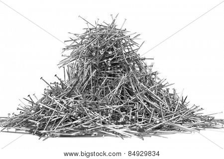 Heap of straight pins