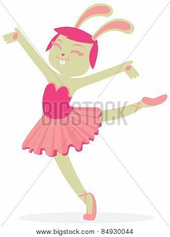 Bunny Dancing Ballet