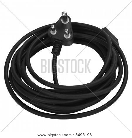 Close-up of an extension cord