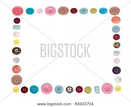 Border created by assorted buttons