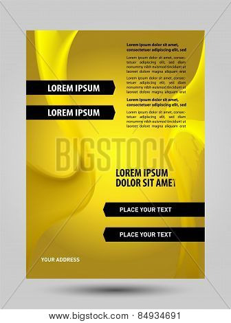Yellow flyer template