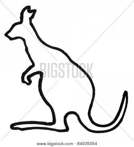 Outline of a kangaroo